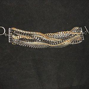 Quality Gold, Silver and Metallic Black bracelet